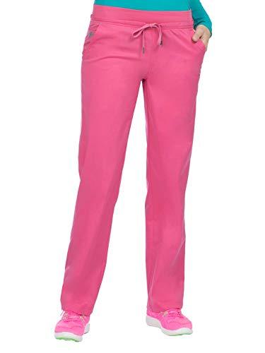 (Med Couture Signature Women's Yoga Drawstring Scrub Pant Bubblegum/Spearmint 3XL)