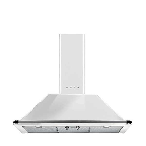 Smeg KTU36WH Victoria Series Wall Ventilation Hood 36-Inch with 2 Halogen lights, 4 Speeds, 3 Aluminium Grease Filters… 1