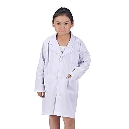 Wildlead 1 Unids Niños Enfermera Doctor White Lab Coat Uniforme Rendimiento Superior Traje Médico: Amazon.es: Hogar