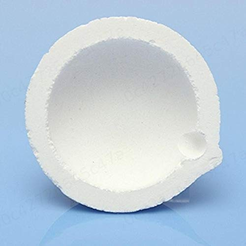 SALAKA Crisol de fusi/ón de s/ílice de Cuarzo Pote 150 g Capacidad para Oro Plata Platino Refinar