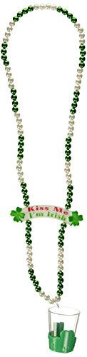 Beads St Pats Glass (Beistle 30589 Beads with Shot Glass and Banner Bead, 39-Inch)