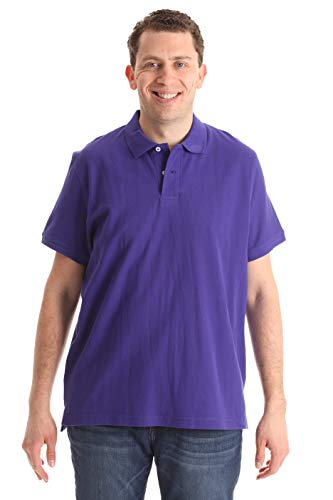 (Whiskey and Oak Classic Fit Short Sleeve Polo Shirts for Men 15930-PUR-S Purple)