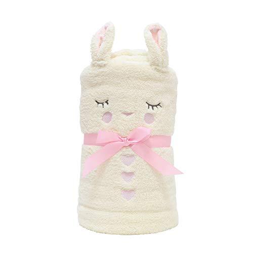 - Department 56 Snow pinions Bunny Snow Throw Plush Blanket, Multicolor