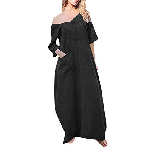 Black Opaky Casual Summer festa Abiti Maxi Beach For Style da Matrimoni Dress Size Women Casual Plus Zx46ZAqwfH