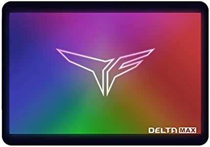 TEAMGROUP T-Force Delta MAX RGB SSD 1TB 2.5 inch SATA III 3D NAND Internal Solid State Drive (T253TM001T3C302)