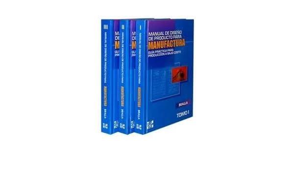 Manual De Diseños Para Manufactura, 3 Vol, J: VARIOS AUTORES: Amazon.com: Books