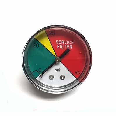 DCI-20 2' Service Filter Gauge with 25 PSI Filter Bypass (Direct Replacement for Stauff CI-20 Gauge) Dynamic Fluid Components