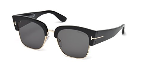 Tom Ford FT0554 Dakota-02 Sunglasses 55 01A Shiny Black - Ford Dakota
