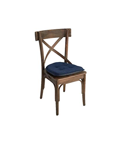 Buy dining chair cushions blue