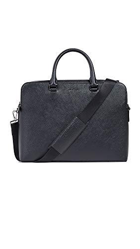 Michael Kors Men's Harrison Double Gusset Briefcase, Black, One Size