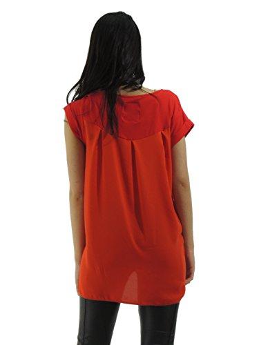 Silvian Heach - Camiseta - Sin mangas - para mujer Rojo