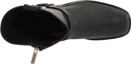 Harley-davidson D94422 El Paso / Noir Court Harnais W / Zip Intérieur, Herren Stiefel Schwarz (noir)