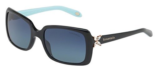 Tiffany & Co. Women TF4047B Black/Blue Sunglasses - Victoria Tiffany