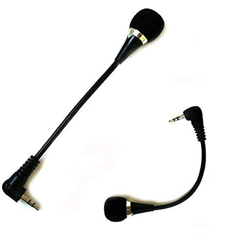 - Kasstino Mini 3.5mm Noise Canceling Flexible Microphone Mic for PC Laptop Notebook Skype