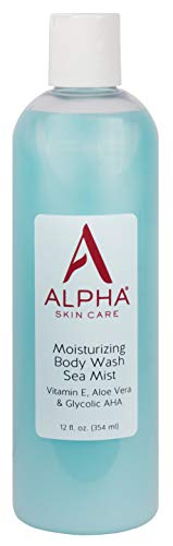 Alpha Skin Care Moisturizing Body Wash | Anti-Aging Formula | Glycolic Alpha Hydroxy Acid (AHA) | Vitamin E & Aloe Vera | Conditions & Soothes | For All Skin Types | 12 Fl Oz from Alpha Skin Care