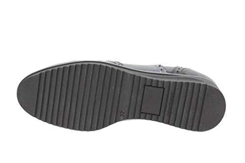 Negro 9621 Cordón Cómodo Mujer Charol Piesanto Zapato nd8Iqww