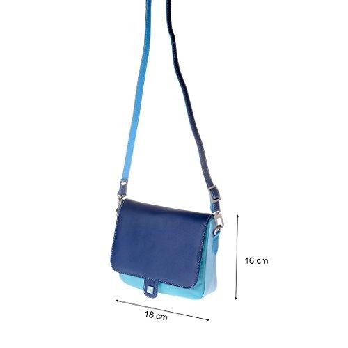 DuDu 534-1178-14, Borsa a spalla donna Blu blu compact