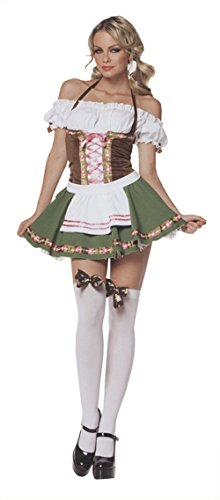 Leg Avenue Womens Gretchen Beer Garden Maid Outfit Fancy Dress Sexy Costume, 2XL (16-18) (Beer Garden Costume)