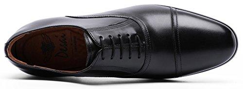 DESAI Men's Leather Dress Shoes Cap Toe Lace-up Oxford (11 M US, Black) by DESAI (Image #3)