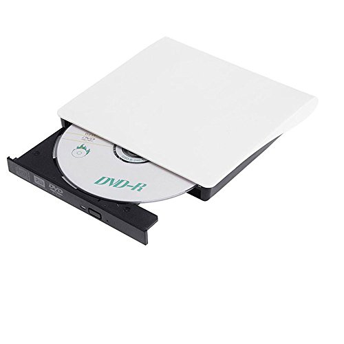 Padarsey DVD Drive for Laptop, Sibaok Portable USB 3.0 DVD-RW Player CD Drive, Optical Burner Writer Rewriter for Mac Computer Notebook Desktop PC Windows 7/8/10, Slim White by Padarsey (Image #5)