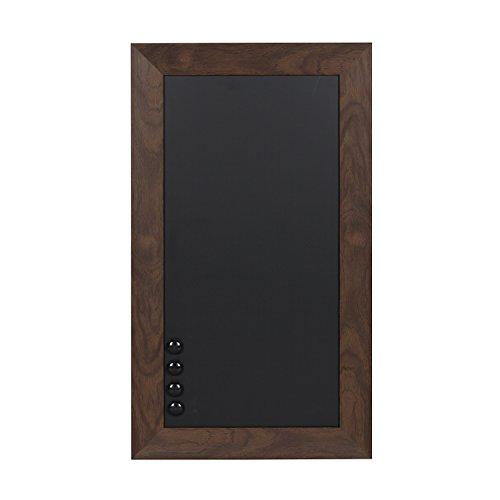 DesignOvation Beatrice Framed Magnetic Chalkboard, 13x23, Walnut Brown