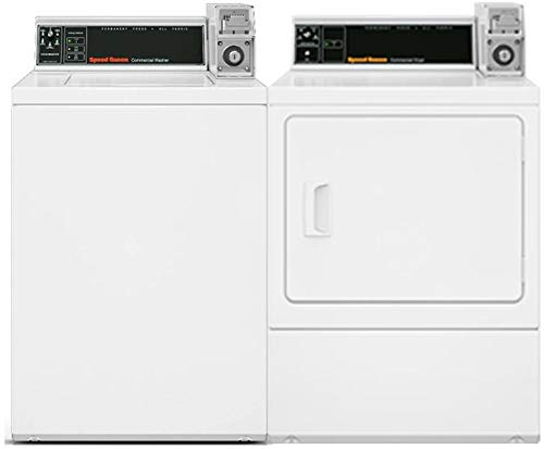 Speed Queen Top Load SWNSX2SP115TW02 26″ Washer with SDESXRGS173TW02 27″ Electric Dryer Commercial Laundry Pair in White