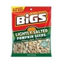 Bigs Lightly Salted Pumpkin Seeds, 5 Ounce -- 48 per case.
