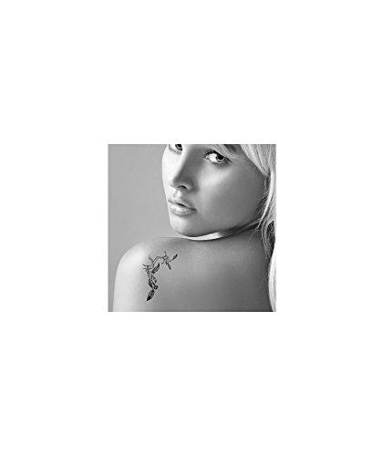 Tatuaje efímero Mujer Diseño gri-gris Índico: Amazon.es: Belleza