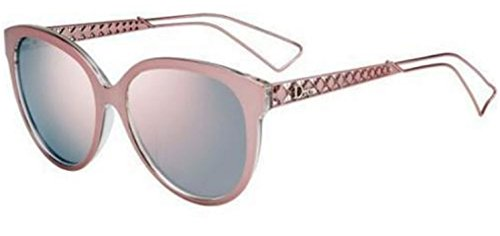 New Christian Dior DIORAMA 2/S TGW/OJ pink crystal/gray rose mirror - Sunglasses Pink Dior