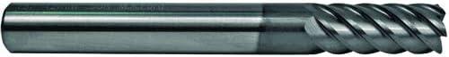 Multi-Fl AlTiN Coated 2.00mm Corner Radii End Mill 8mm TuffCut HS