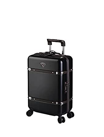 Cassis Classic Hardside Carry-on Spinner Suitcase (Black)