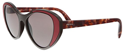 Prada PR14US YEO6X1 Brown PR14US Cats Eyes Sunglasses Lens Category 2 Size - Prada Brown Lens