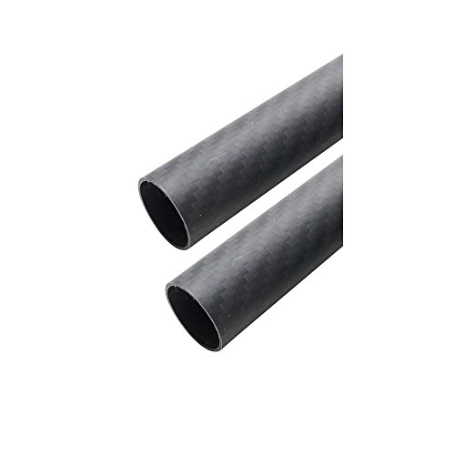 - ARRIS 25mm 23mm x 25mm x 500mm 3K Roll Wrapped 100% Carbon Fiber Tube Matt Surface (2 PCS)