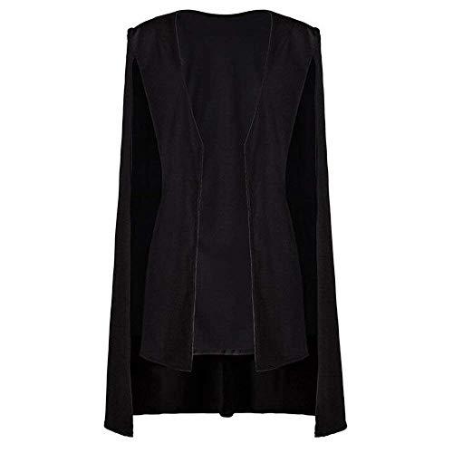 Schwarz Mujeres Estilo Fashion Negocios Ponchos Blazer Mujer X0WPnd4qH