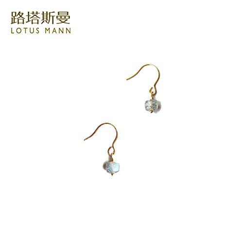 Labradorite Small Box Note 14k Gold Earrings earings Dangler Eardrop lutasiman ()