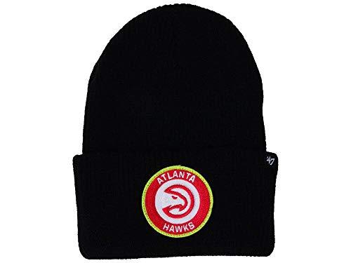 '47 Atlanta Hawks Black Ice Block Cuff Beanie Hat - NBA Cuffed Winter Knit Toque Cap ()