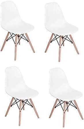 Classic Wooden Sofa Set, Mahmayi Set Of 4 High Quality Eames Plastic Dining Chair White Price In Uae Amazon Uae Kanbkam