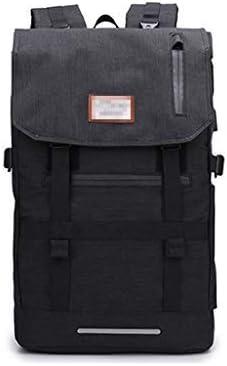 BAJIMI USBインタフェーストラベルリュックアウトドアスポーツ旅行ハイキングバッグファッショントレンドのパケットにロールカバーバックパックメンズ大容量 (Color : Grey)