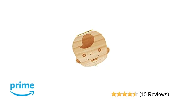 Amazon.com: MMOO Lovely Wooden Houses Personalized Baby Teeth Deciduous Souvenir Box (Color Boy): Kitchen & Dining