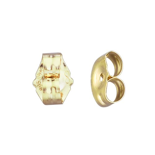 14k Gold Small Replacement Earring Backs Pair (Gold 14k Replacement Yellow)