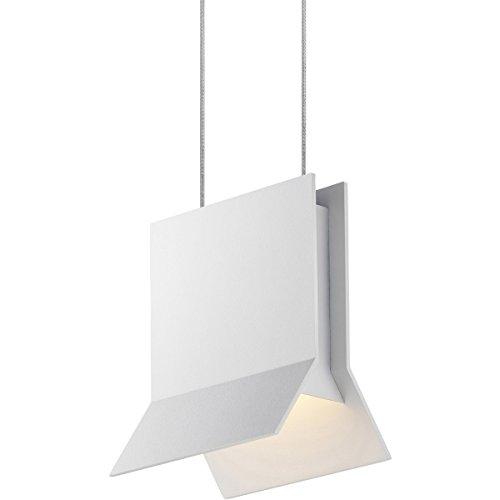 - Sonneman 2730.98, Lambda Mini Square Pendant, 1 Light LED, Textured White