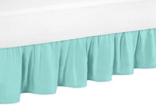 Sweet Jojo Designs Solid Turquoise Toddler Bed Skirt for Girls Skylar Kids Children's Bedding Sets