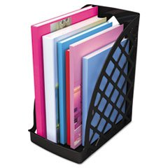 ** Recycled Plastic Large Magazine File, 6 1/4 x 9 1/2 x 11 3/4, Black