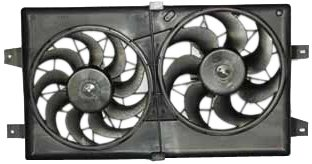 TYC 620910 Chrysler/Dodge Replacement Radiator/Condenser Cooling Fan Assembly