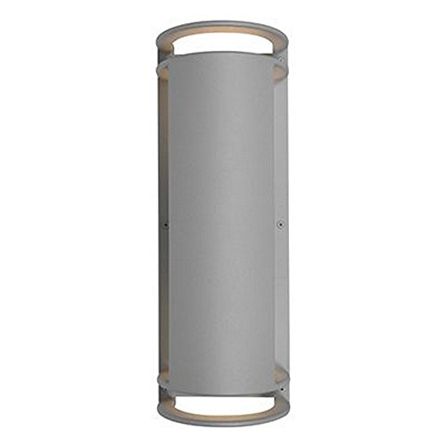 Access Lighting Poseidon Outdoor LED Bulkhead - Satin Finish with Ribbed Frosted Glass Shade