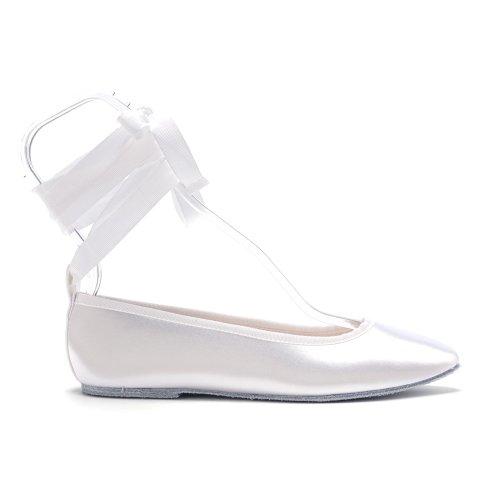 Ritocchi Scarpe Basse Donna Beth, Raso Bianco, 7 M