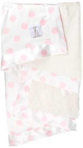 (Little Giraffe Luxe Cream Dot Baby Blanket,)