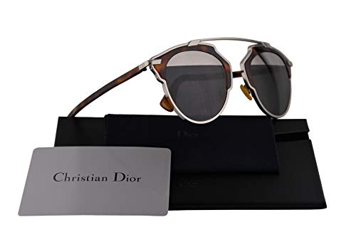 Dior Sunglasses Grey Lens - Christian Dior DiorSoReal Sunglasses Palladium Havana w/Grey w/Mirrored Top Lens 48mm AOOMD DiorSoReals DiorSoReal/S Dior So Real