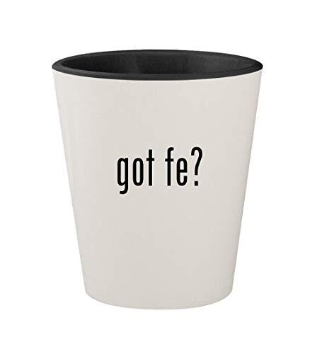 - got Fe? - Ceramic White Outer & Black Inner 1.5oz Shot Glass