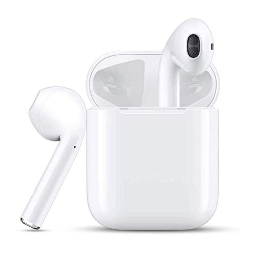Bluetooth Headset Wireless Earbuds Sweatproof Sports Headphones with Charging Case Mini Size HD Stereo in-Ear Noise Canceling Earphones with Mic for Phone Android Smart